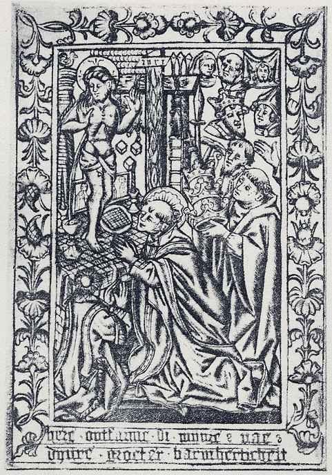 Израэль ван Мекенем Старший. Месса святого Григория