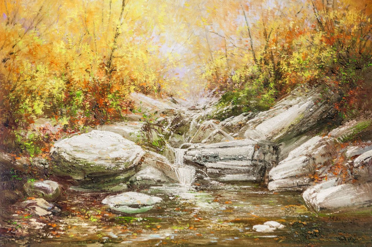 Andrey Sharabarin. The rivulet ran over the stones