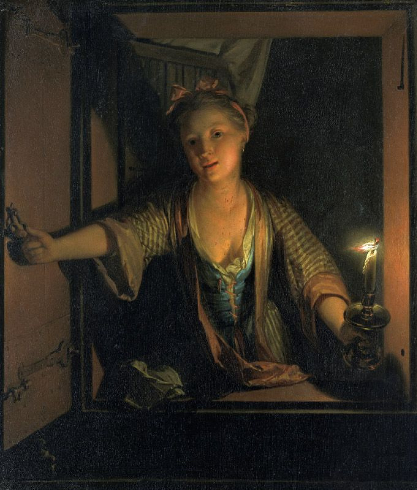 Godfree Schalken. The girl at the window