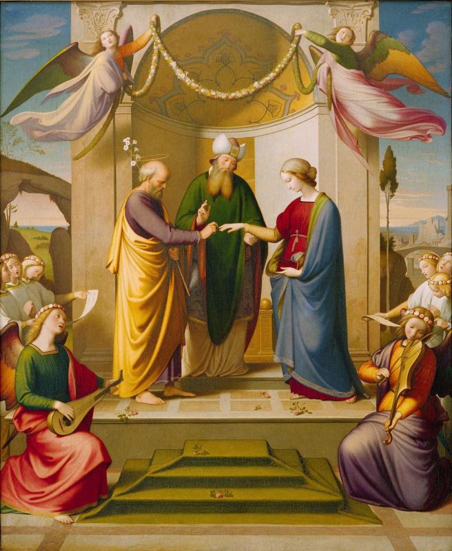 Иоганн Фридрих Овербек. Обручение Девы Марии