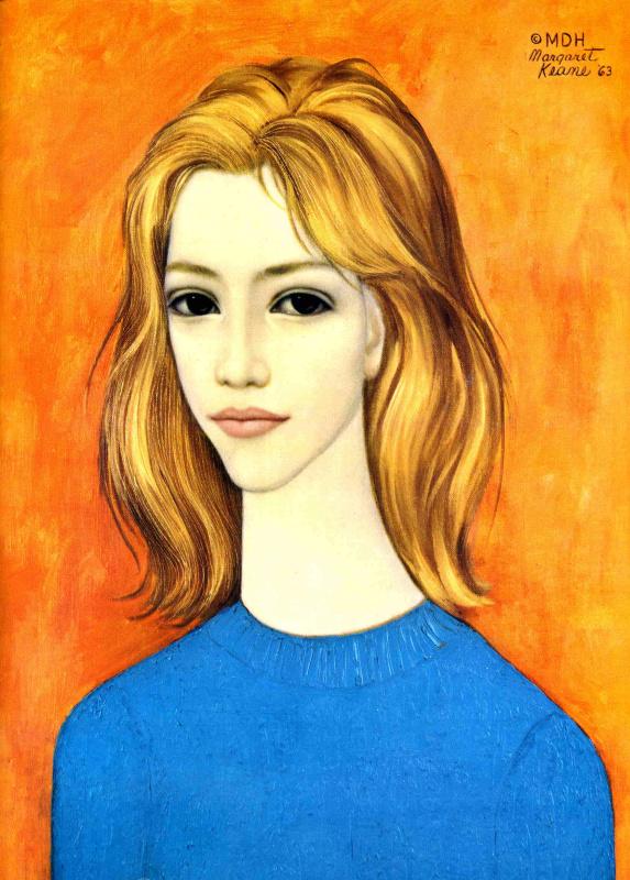 Маргарет Кин. Дама в синем