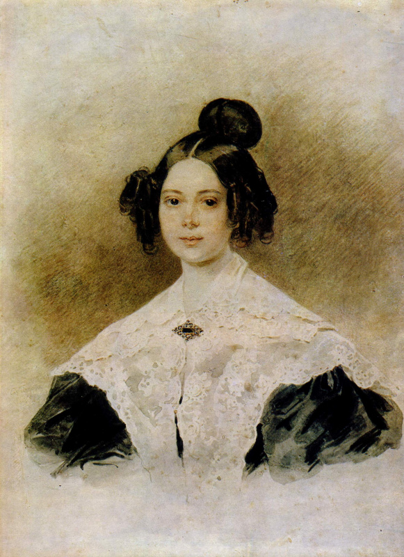 Peter Fedorovich Sokolov. Portrait of a woman . 1830