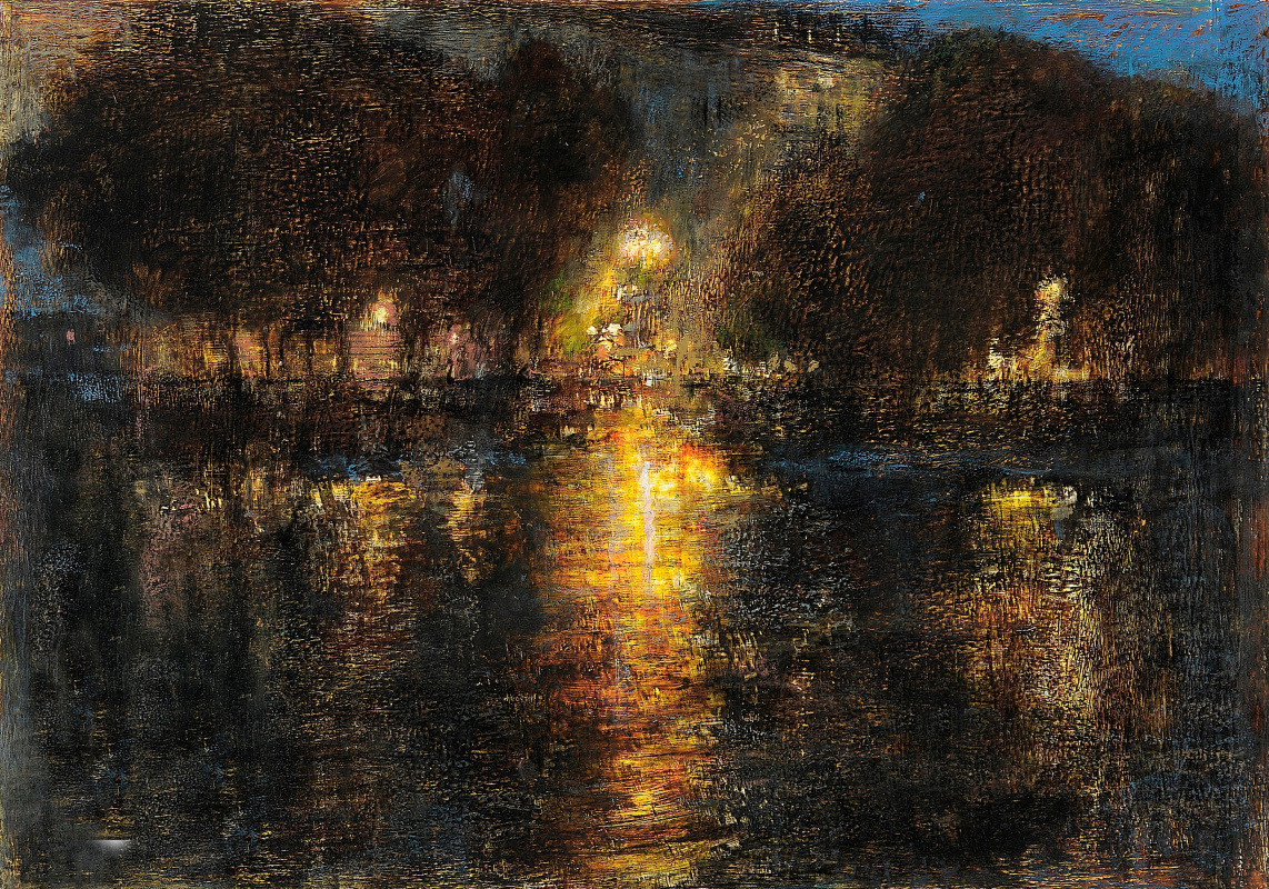 Arkady Perchevich Melik-Sargsyan. Night city park