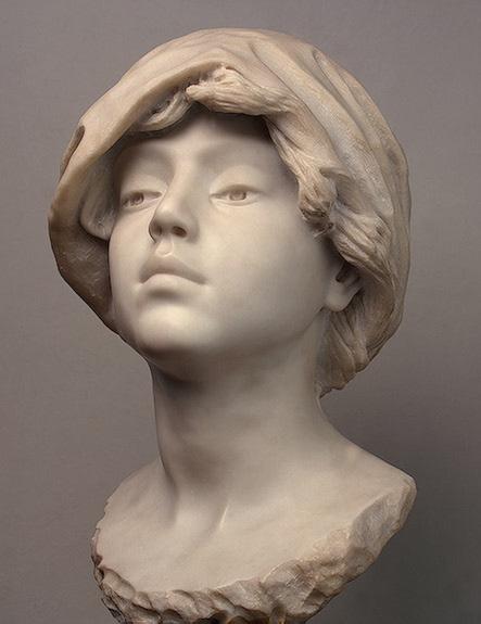Жюль Далоу. Молодая женщина в платке
