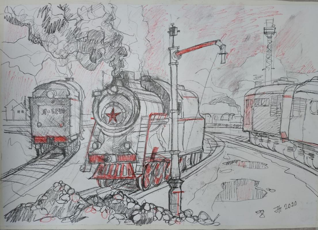 Natalia Gennadievna Torlopova. Our steam locomotive ...