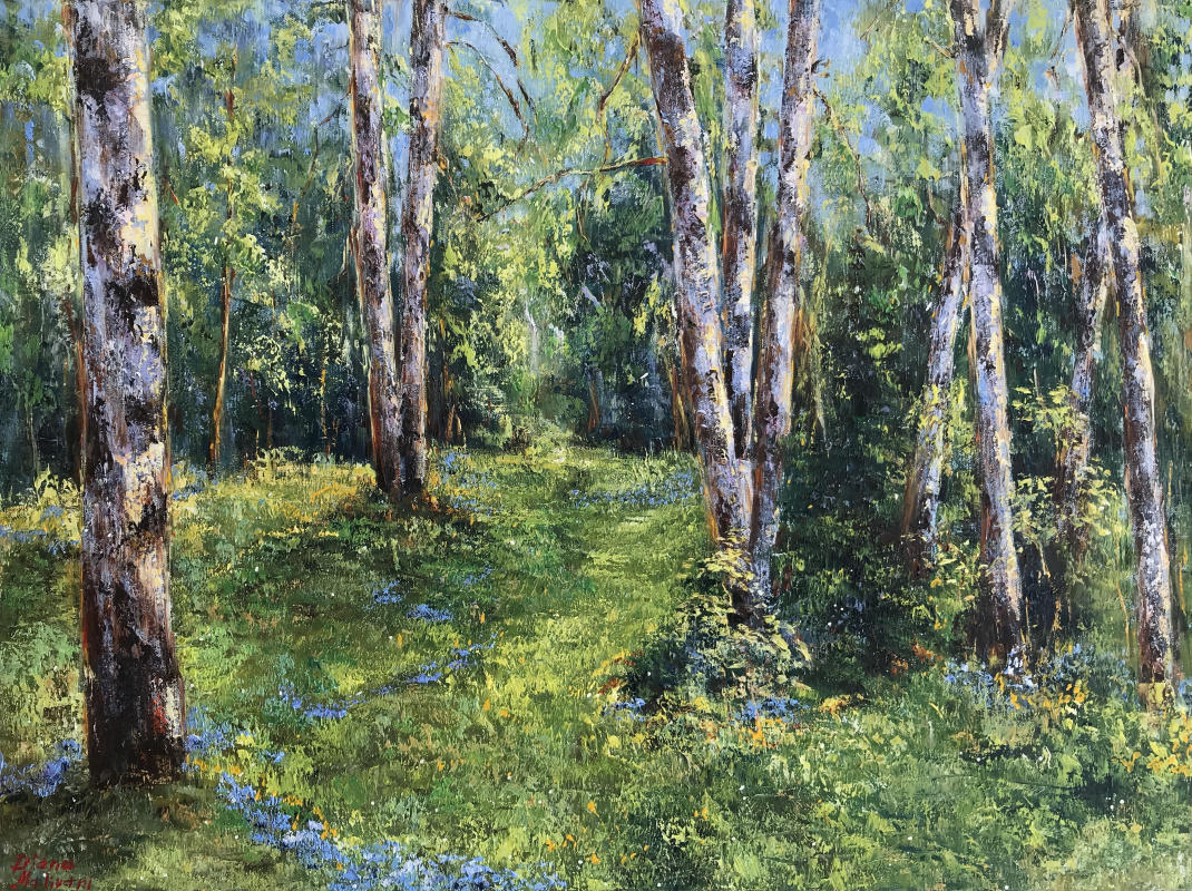 Диана Владимировна Маливани. Birch Trees in the Sunshine