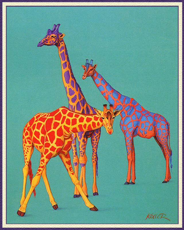Гельмут Коллер. Три жирафа
