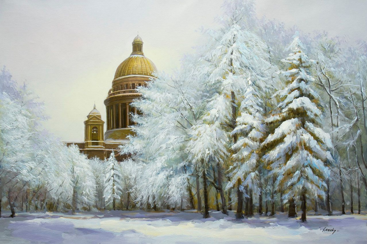 Savely Kamsky. Saint Isaac's Cathedral. Winter lace