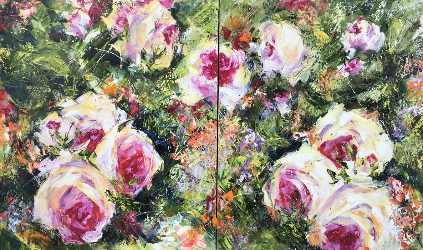 Диана Владимировна Маливани. Roses. Diptych