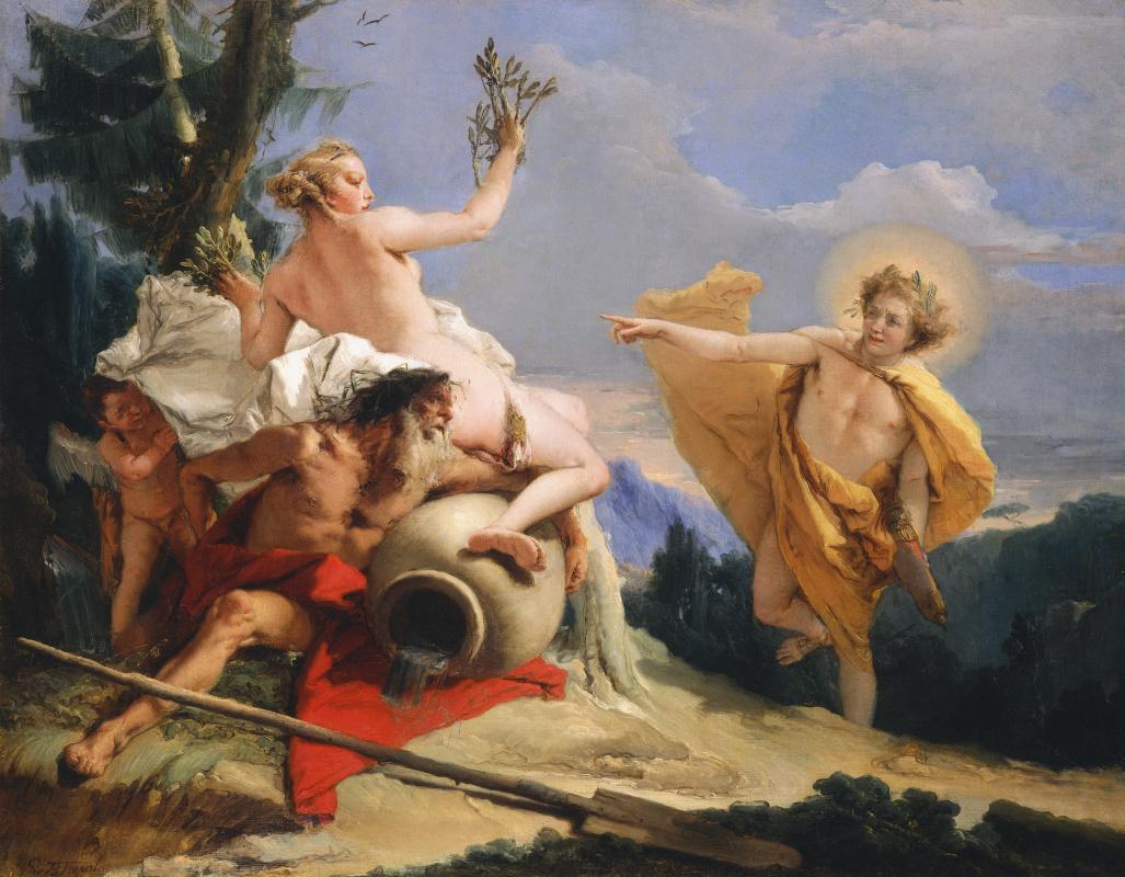 Джованни Баттиста Тьеполо. Apollo pursues Daphne