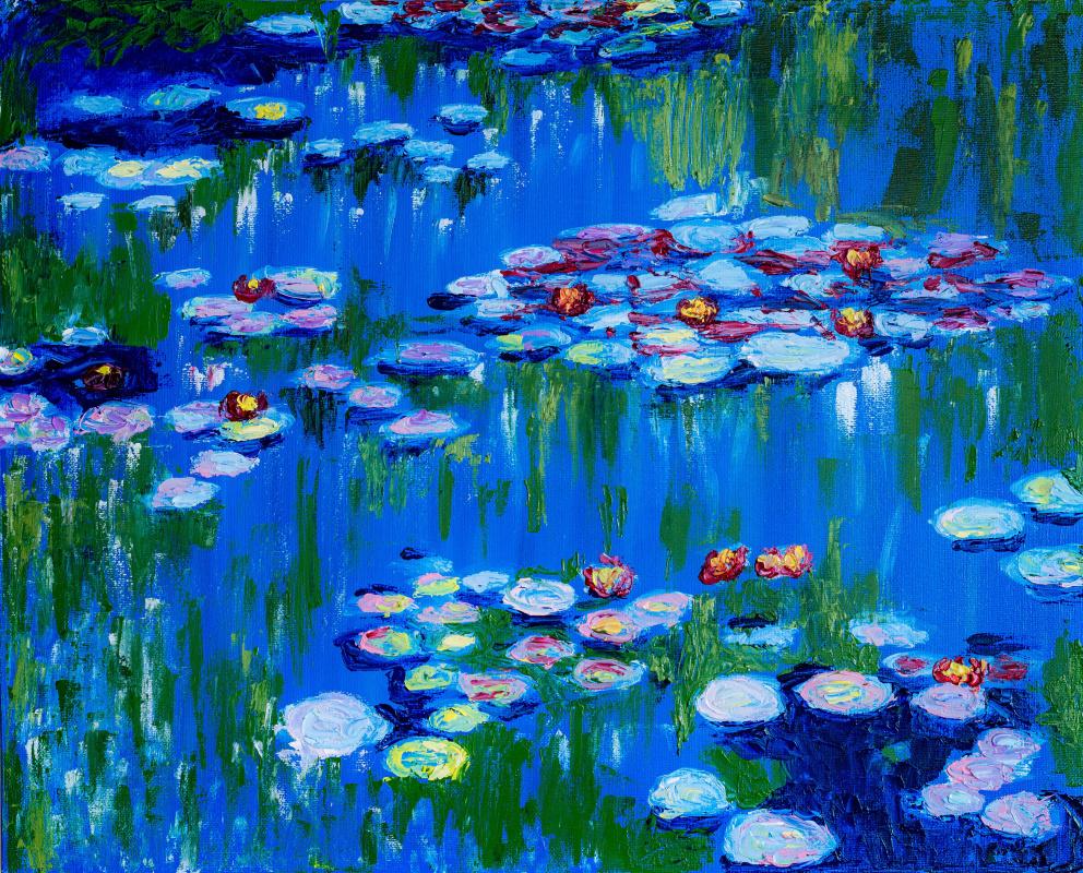 Arina Yuryevna Yastrebova. Claude Monet Water Lilies