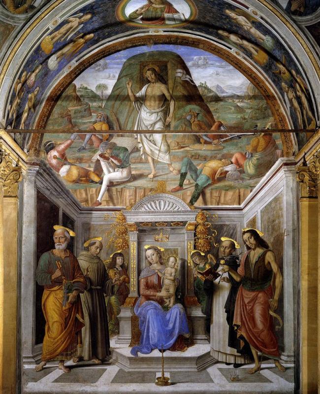 Джованни Санти. Святое собрание и Воскресение