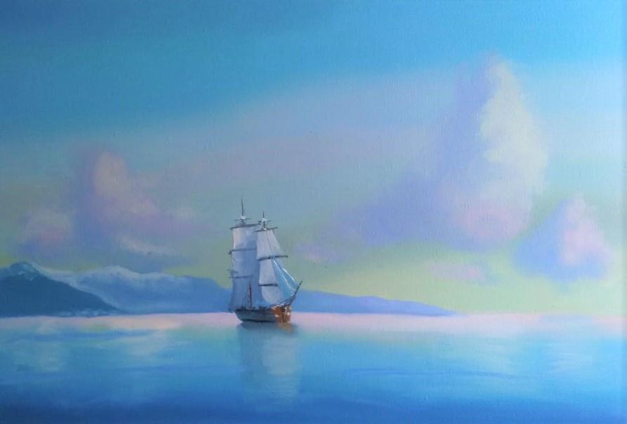 Lilita Salimova. Ship off the coast