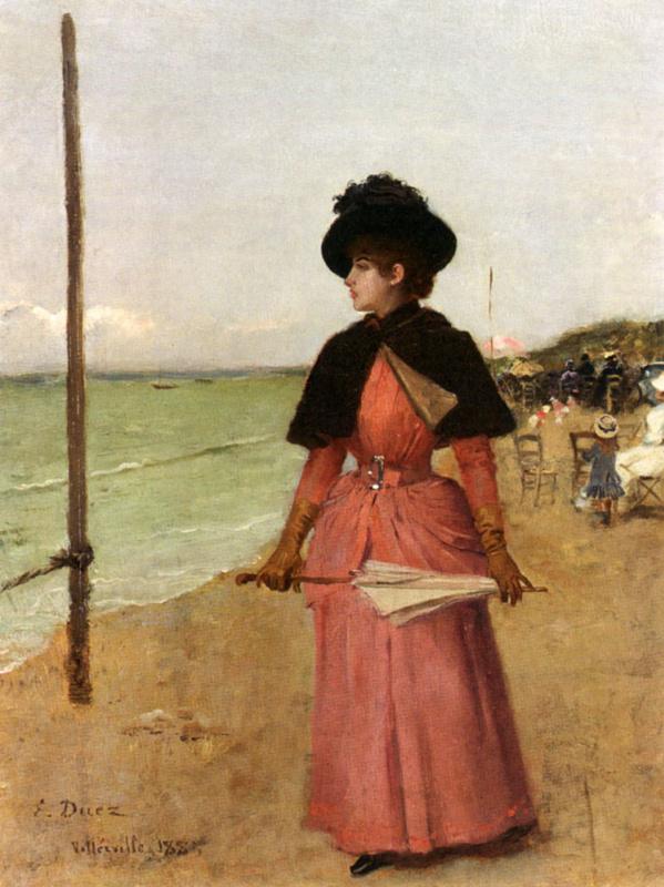 Элегантная дама на пляже