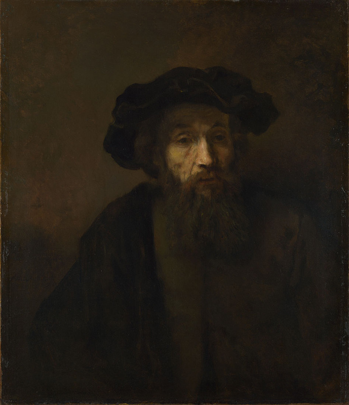Rembrandt Harmenszoon van Rijn. A bearded man in a beret
