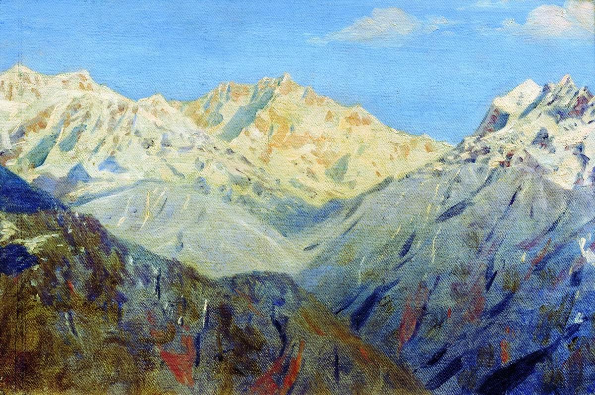 Vasily Vereshchagin. The Himalayas. The main top. Etude