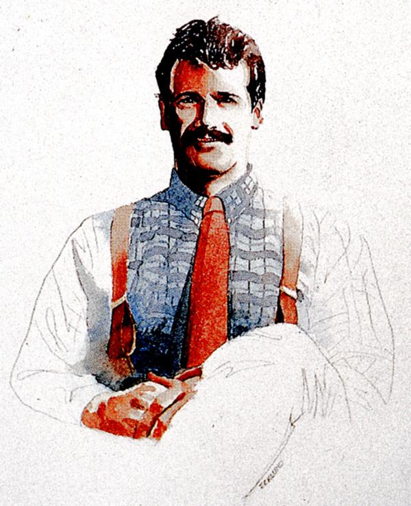 Рей Эклунд. Мужчина в красном галстуке