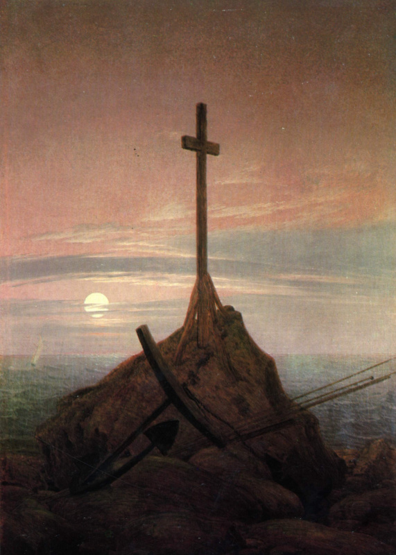 Caspar David Friedrich. Cross on the Baltic Sea