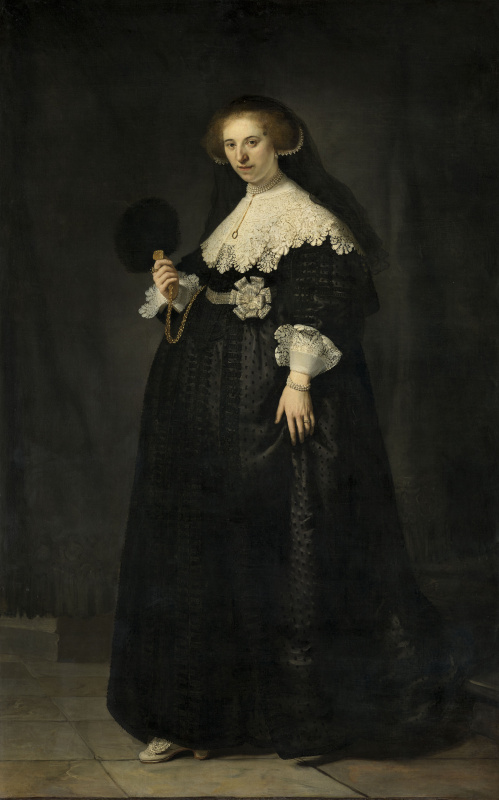Рембрандт Харменс ван Рейн. Портрет Опьен Коппит, жены Мартина Солманса