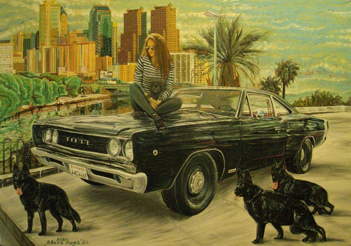 Andrii Herhelezhyu. Black Dogs (Detroit)
