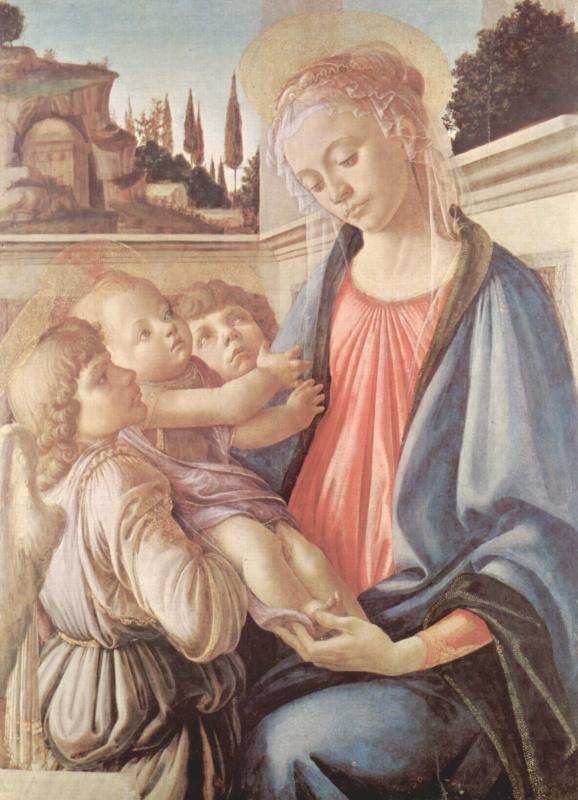 Сандро Боттичелли. Мадонна с младенцем и ангелами