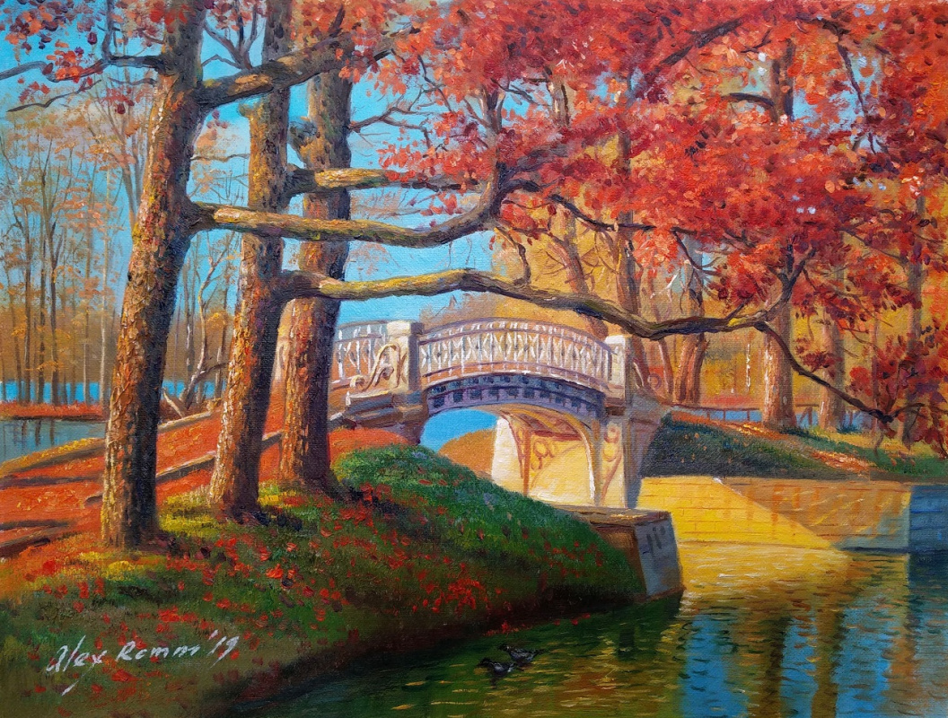 Alexander Romm. In the Palace Park in the fall. Gatchina