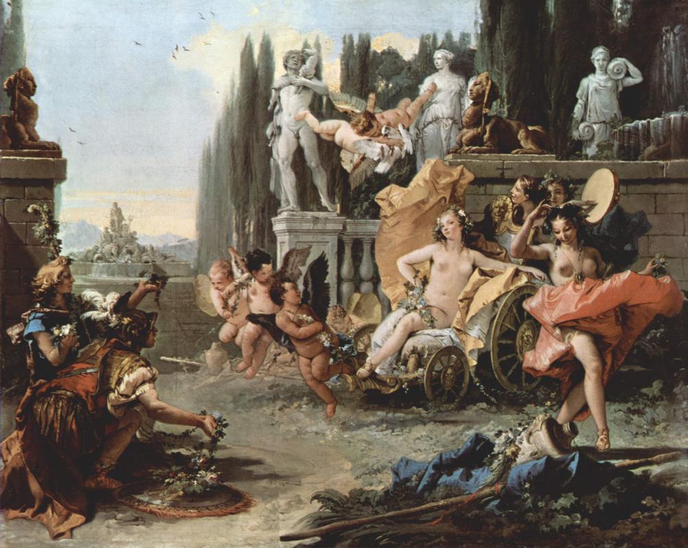 Giovanni Battista Tiepolo. Triumph of Flora