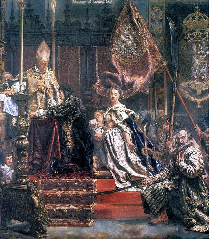 Jan Matejko. The vow of King Jan Casimir. Fragment. Oath