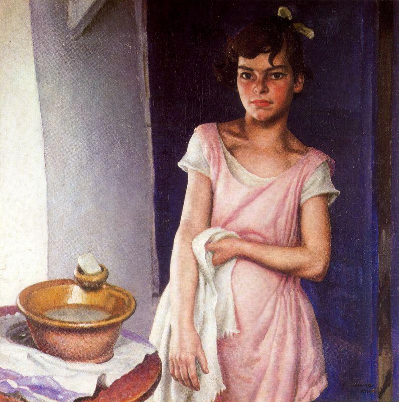 Лора Найт. Девочка моет руки