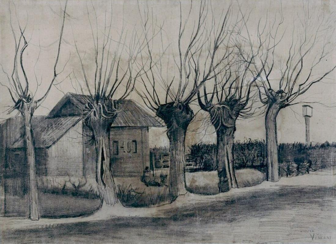 Винсент Ван Гог. Дорога с обрезанными ивами