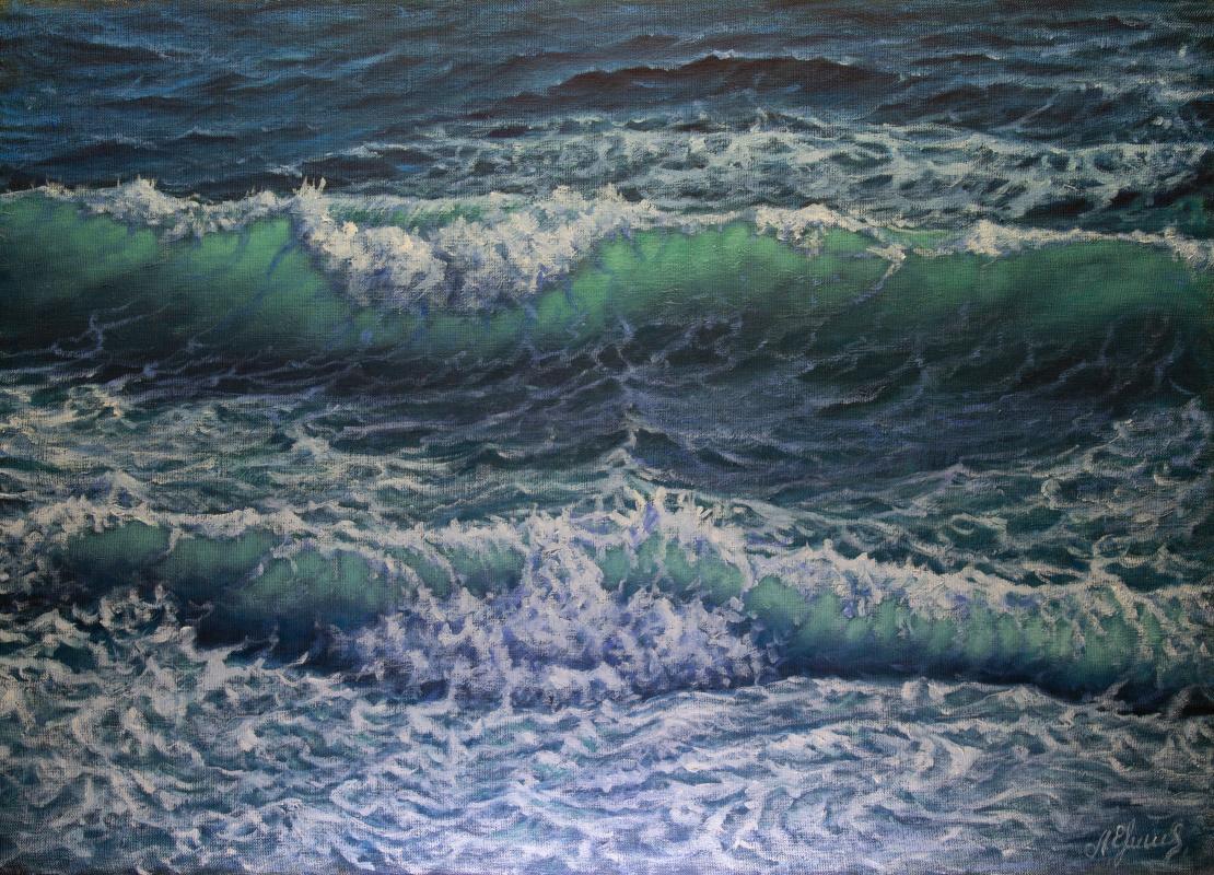 Valery Levchenko. № 596  Морской пейзаж.