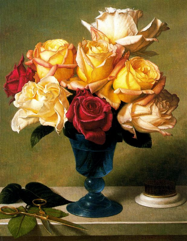Стоун Робертс. Розы в вазе