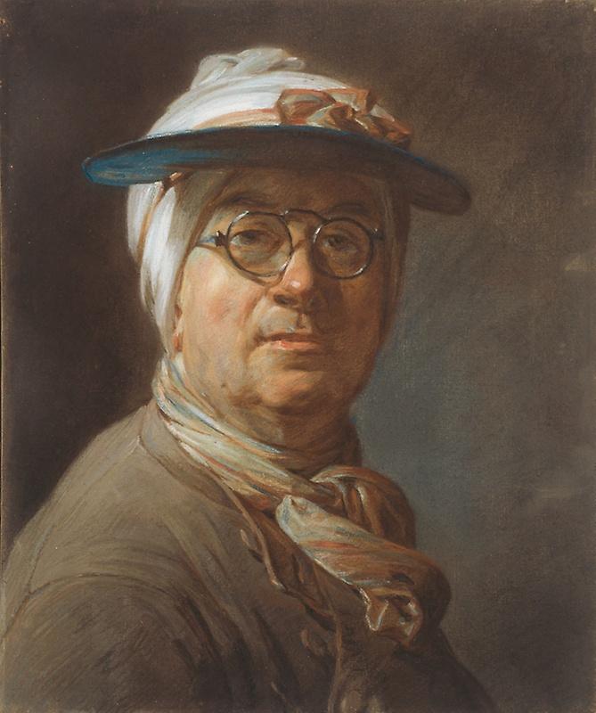 Автопортрет в очках и с козырьком