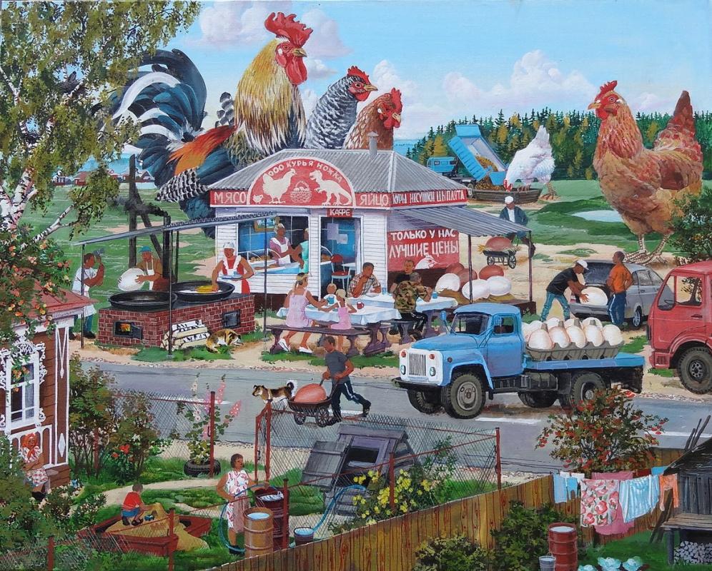 Dina Valerievna Eltseva. Chickens
