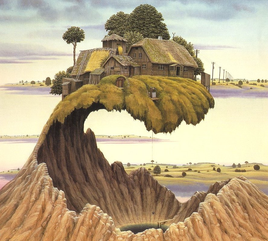 Jacek Yerka. Please do not slam the door!