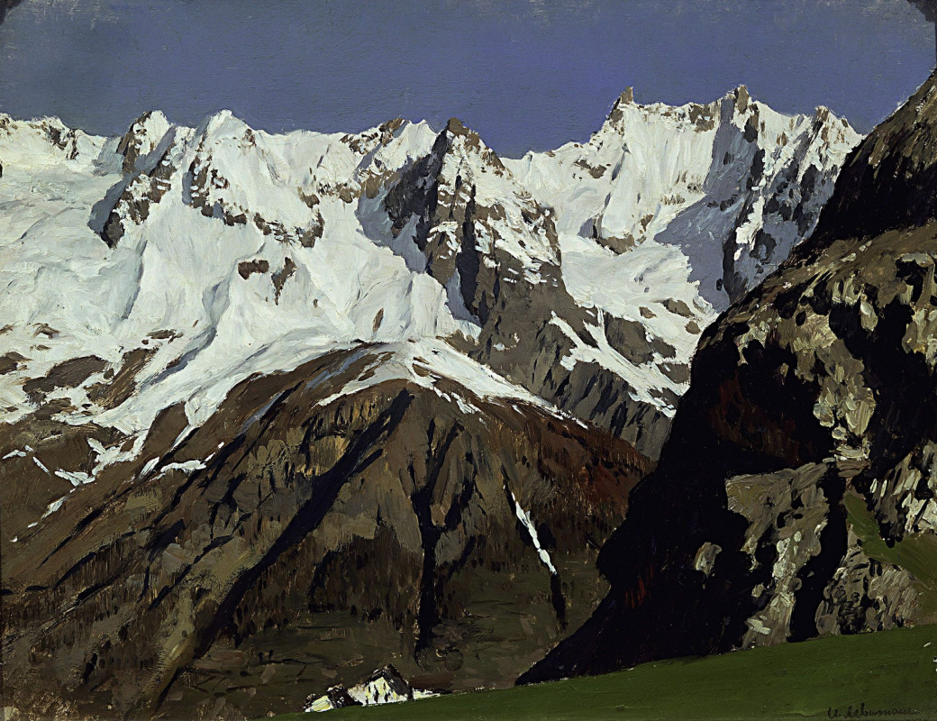 Isaac Levitan. The chain of mountains. Blanc