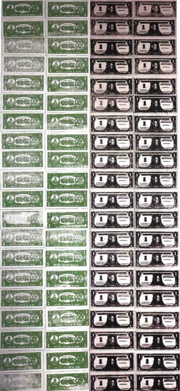 Сто долларовых банкнот (Лицо и изнанка)