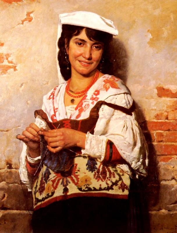 Леон Жозеф Флорантен Бонна. Молодая итальянская девушка