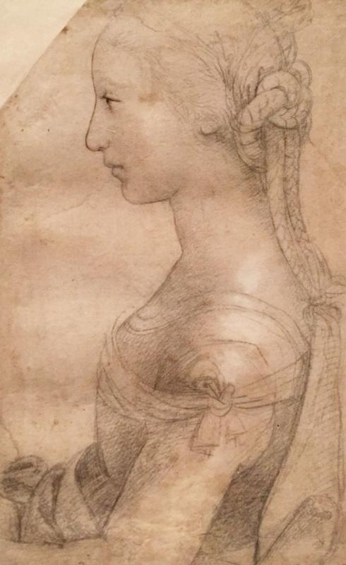 Рафаэль Санти. Погрудное изображение молодой женщины в профиль