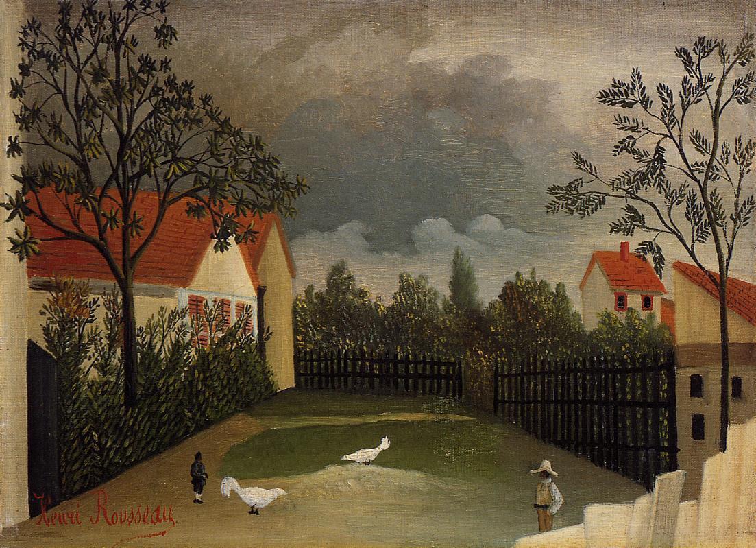 Henri Rousseau. The poultry yard