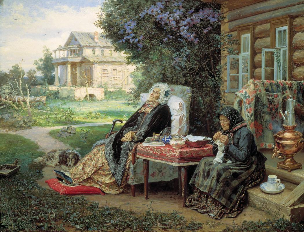Василий Максимович Максимов. Всё в прошлом. 1889
