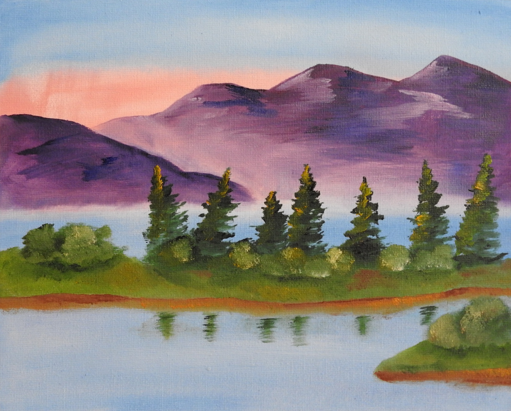 Olga Vladimirovna Nadtochaeva. Mountain Lake