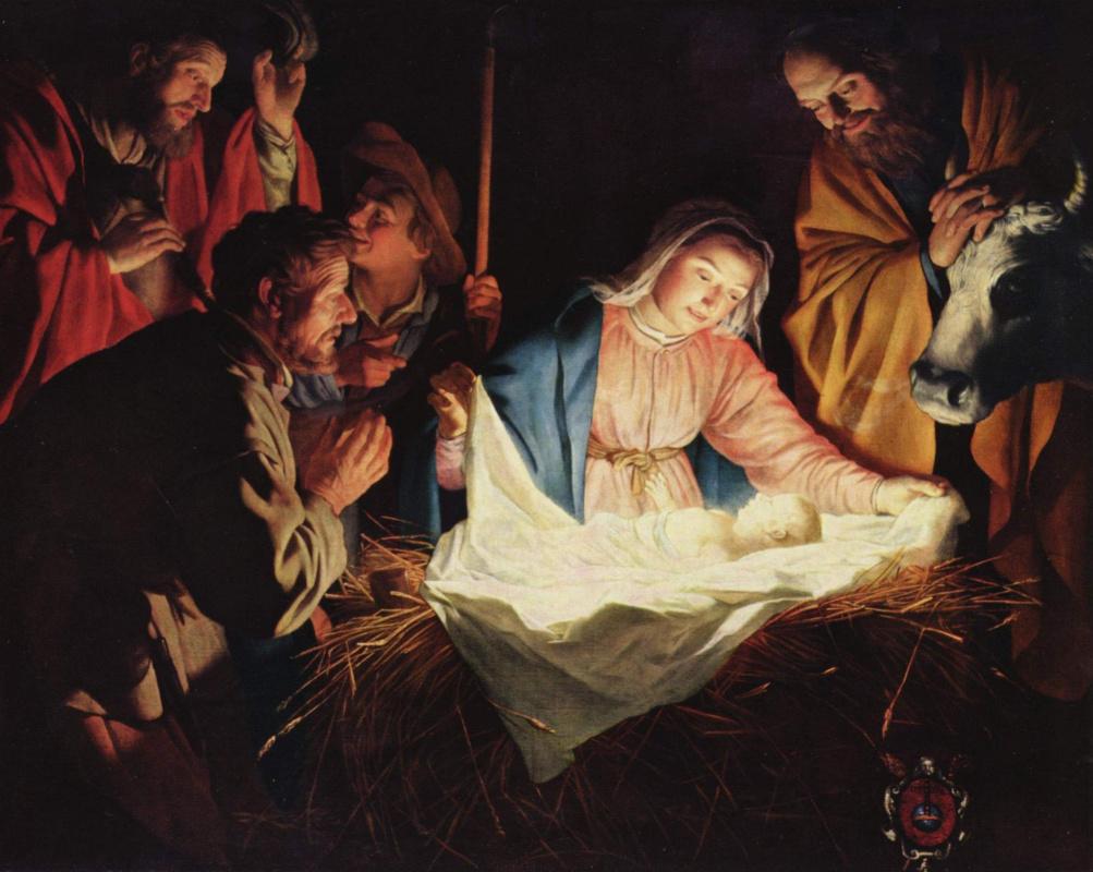 Gerrit van Honthorst. The adoration of the shepherds