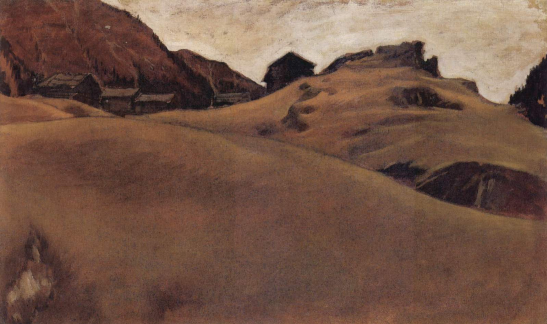 Альбин Эггер-Линц. Альпийский пейзаж
