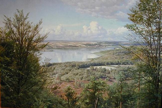 Peder Mørk Mønsted. Lake view