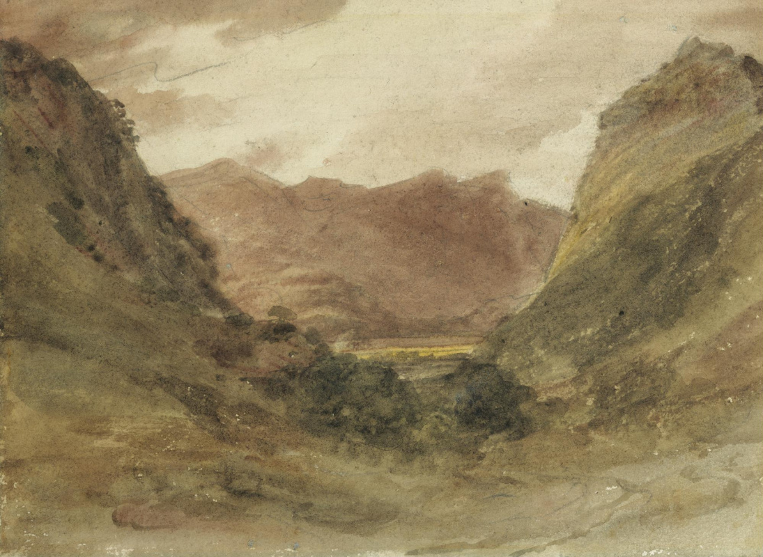 John Constable. Views of the Borrowdale valley