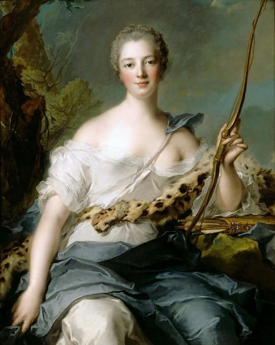 Жан-Марк Натье. Жанна-Антуанетта Пуассон, маркиза де Помпадур в образе Дианы-Охотницы