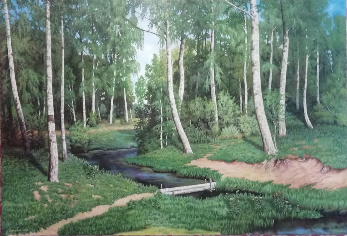 Unknown artist. Birch grove