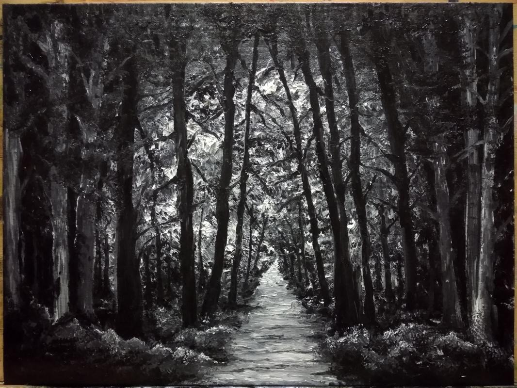 Zifa Abdullina. Dark forest