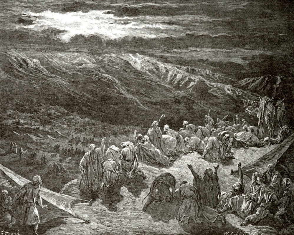 Illustration to the Bible: at Mount Sinai by Paul Gustave Dore